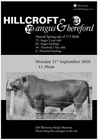 HILLCROFT ANNUAL ANGUS & HEREFORD BULL SALE