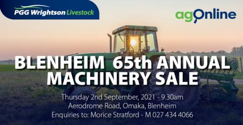 BLENHEIM 65TH ANNUAL MACHINERY SALE