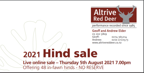 ALTRIVE RED DEER ANNUAL HIND SALE