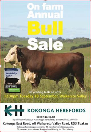 KOKONGA HEREFORD ON FARM ANNUAL BULL SALE
